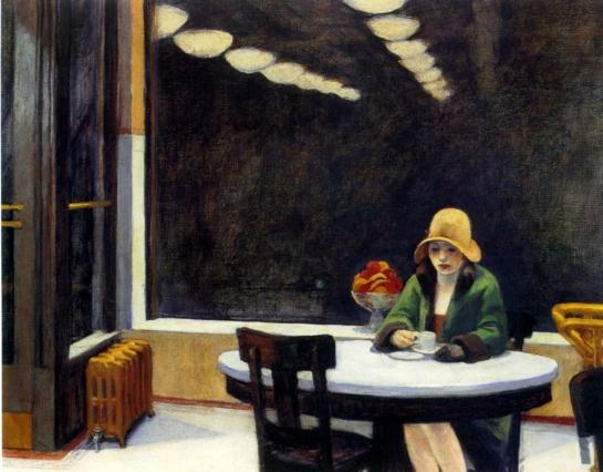 | Automat, 1927, by Edward Hopper |